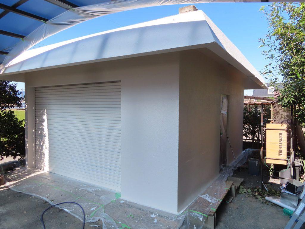 小屋塗装完了
